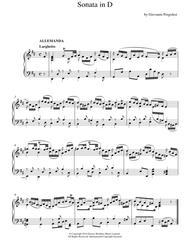 Harpsichord Sonata In D Major