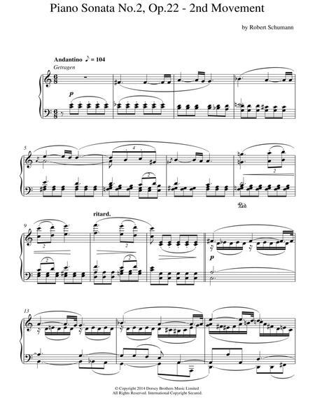 Piano Sonata No. 2, Op. 22 - 2nd Movement