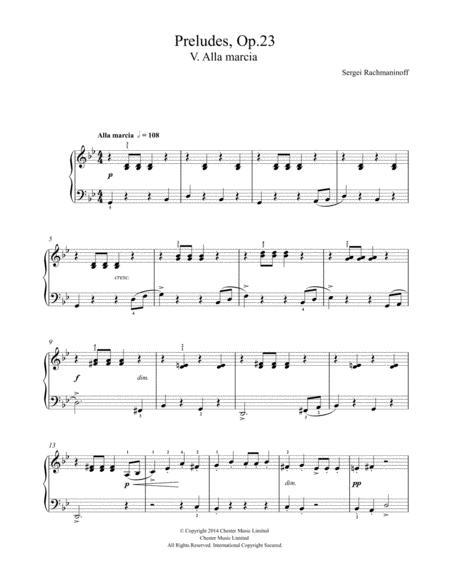 Preludes Op. 23, No. 5 Alla marcia