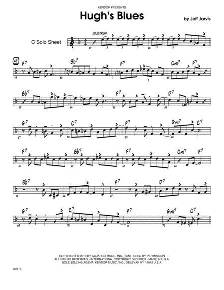 Hugh's Blues - C Solo Sheet