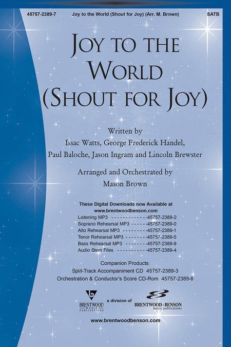 Joy To The World/Shout For Joy - Split Track Accompaniment CD Sheet