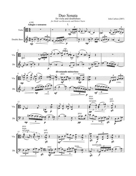 Duo Sonata for viola and doublebass