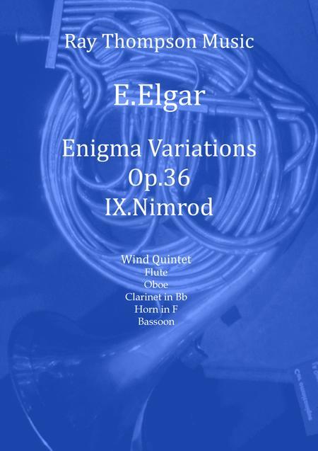 Elgar: Variation IX (Nimrod) from Enigma Variations Op.36 - wind quintet