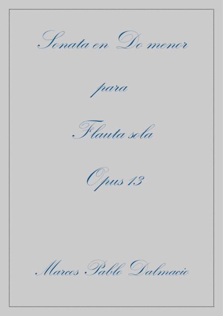 Flute Sonata in C minor Opus 13 (Spanish Edition)