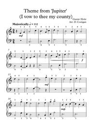 Theme from 'Jupiter' (I vow to thee my country)