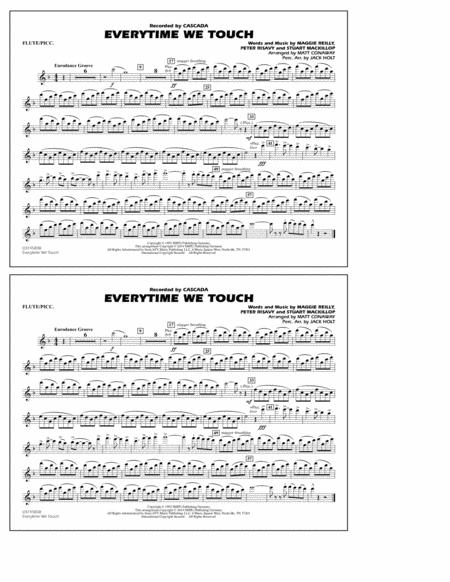 Download Everytime We Touch Flutepiccolo Sheet Music By Maggie