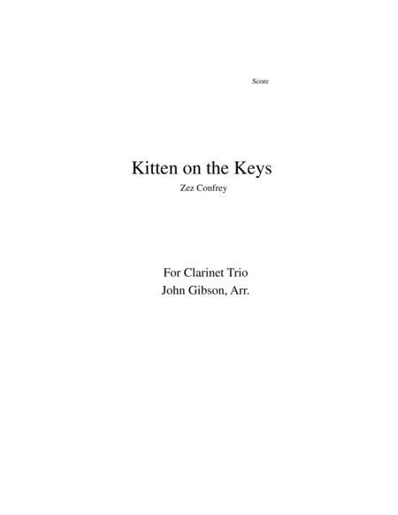 Kitten on the Keys for clarinet trio