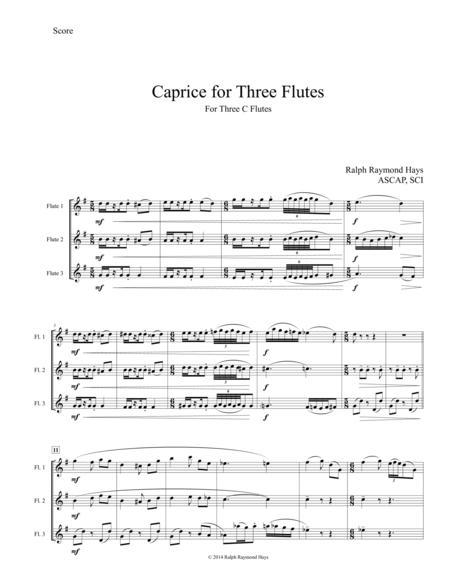 Caprice for Three Flutes