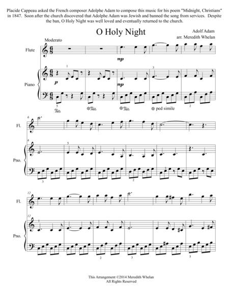 Christmas Duets for Flute & Piano:  O Holy Night