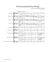 Sommarsang (Summer Song) for Clarinet Choir (Score)