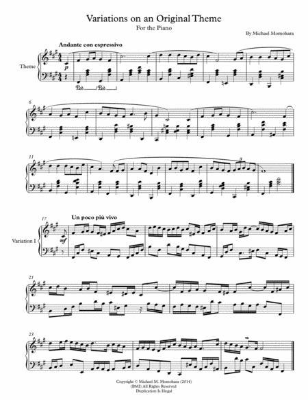 Variations on an Original Theme