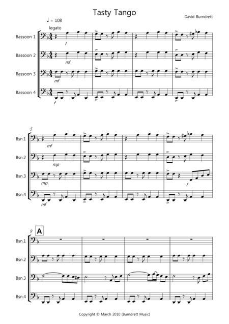 Tasty Tango for Bassoon Quartet