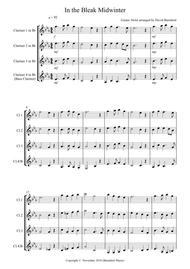 In the Bleak Midwinter for Clarinet Quartet