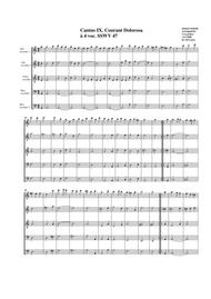 Courant dolorosa SSWV 47 (arrangement for 5 recorders)
