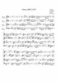 Canon a4, BWV 1073 (arrangement for 4 recorders)