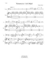 Nocturne No. 1 for Cello and Piano