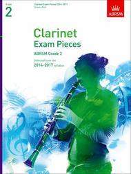 Clarinet Exam Pieces 2014-2017, Grade 2, Score & Part