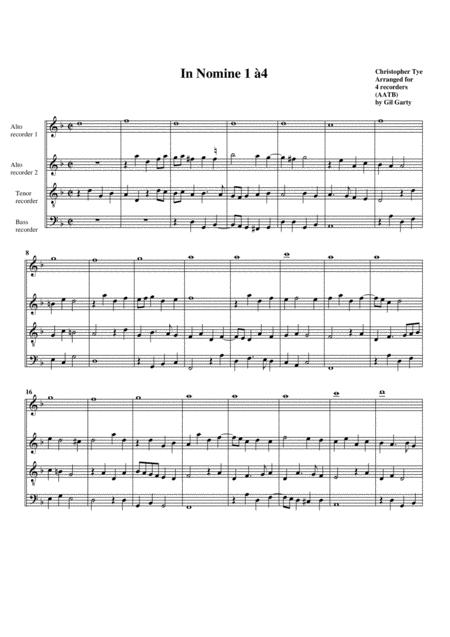 In Nomine no.1 a4 (arrangement for 4 recorders)