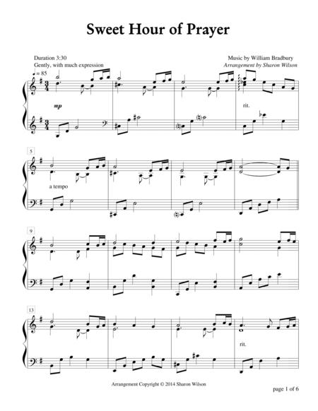 Download Sweet Hour Of Prayer (Piano Solo) Sheet Music By