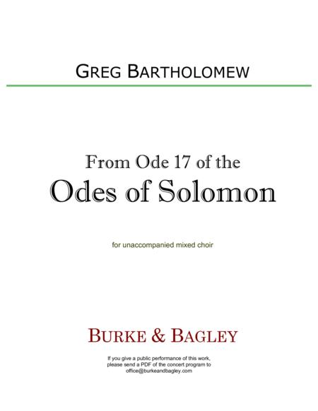 From Ode 17 of the Odes of Solomon