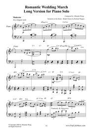 Romantic Wedding March by Miranda Wong - Long Version for Piano Solo