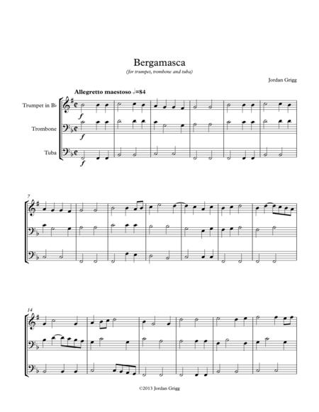 Bergamasca (for trumpet, trombone and tuba)