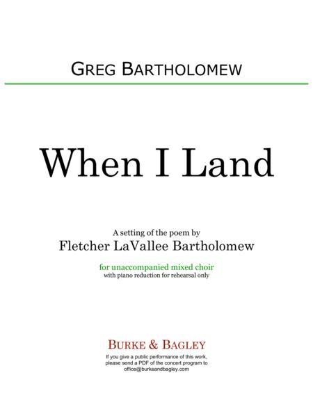 When I Land
