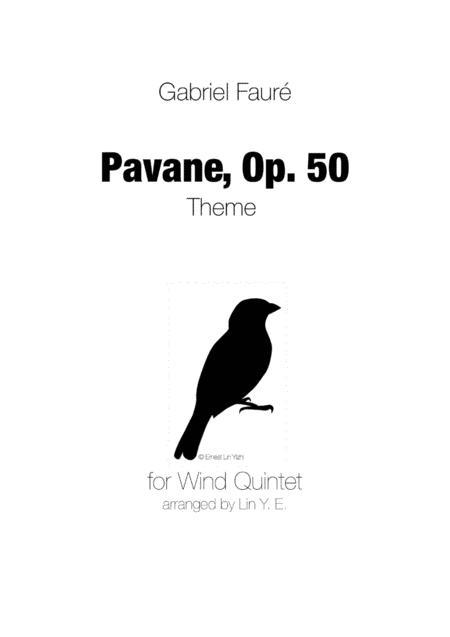 Pavane (Faure) for Wind Quintet (Original Key)
