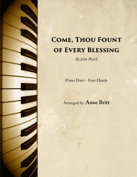 Come, Thou Fount of Every Blessing (piano duet)
