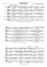 Jerusalem for Clarinet Quintet