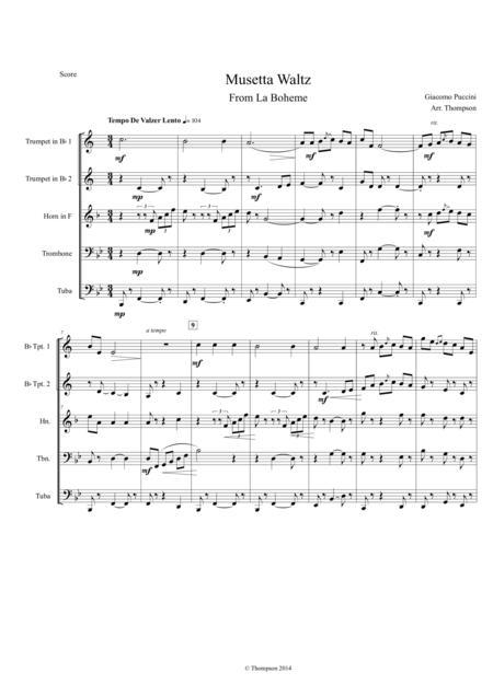 Musetta's Waltz From La Boheme