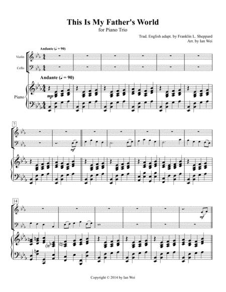 This Is My Father's World for Piano Trio