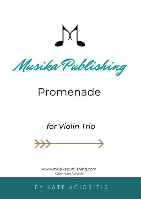 Promenade - for Young Violin Trio