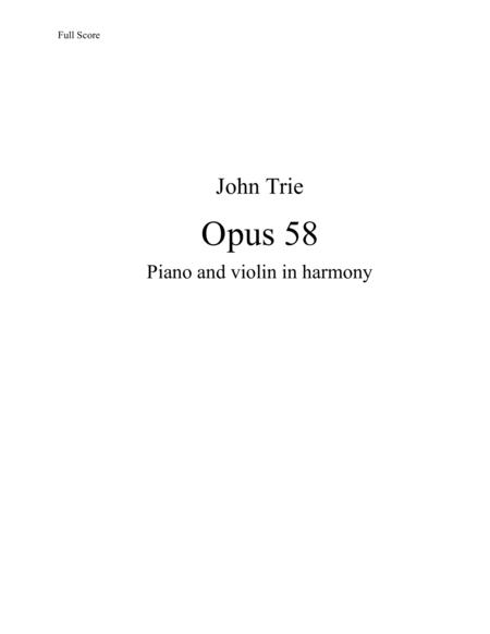 Opus 58 - Piano and violin in harmony