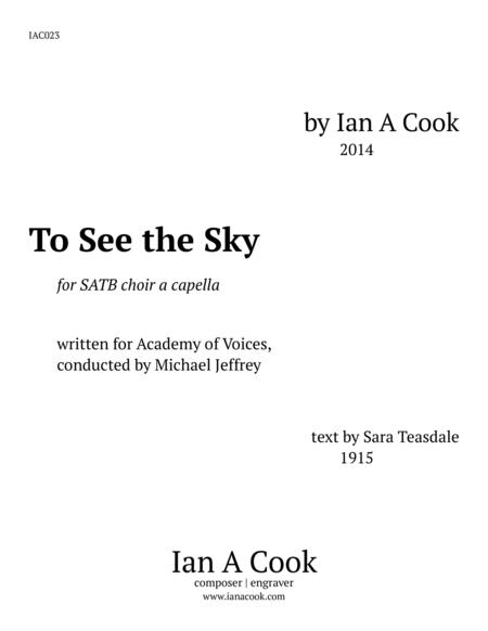 To See the Sky