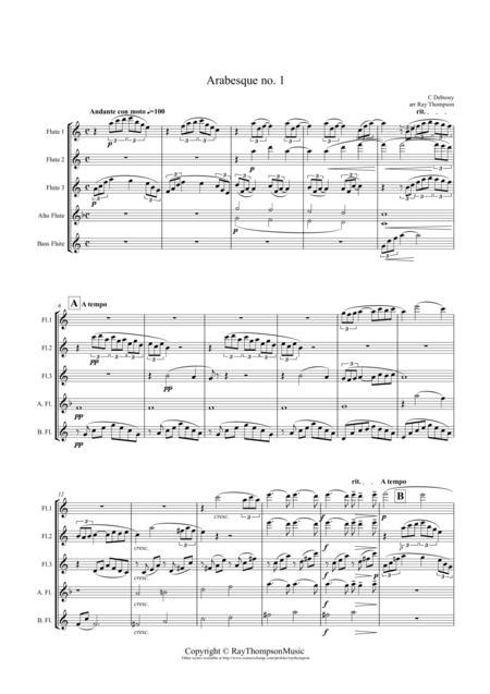 Debussy: Arabesque No.1 - flute quintet