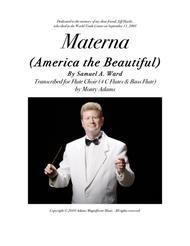 Materna (America the Beautiful) for Flute Choir