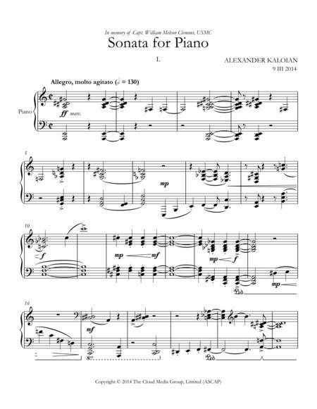 Sonata for Piano (2014)