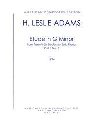Etude No. 1 in G minor for solo piano