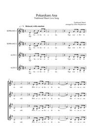 Pokarekare Ana - A Traditional Maori Love song - (ssaa, acapella)