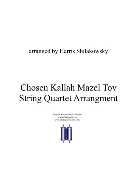 Chosen Kallah Mazel Tov String Quartet Arrangement