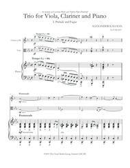 Trio for Viola, Clainet and Piano (2013)