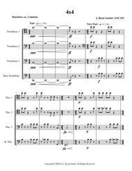 4x4 (for trombone quartet)