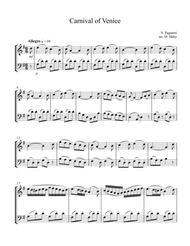 Carnival of Venice, for violin & cello duet