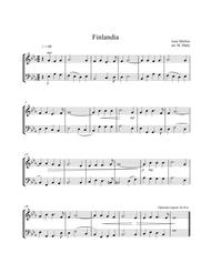Download Finlandia, For Violin & Cello Duet Sheet Music By