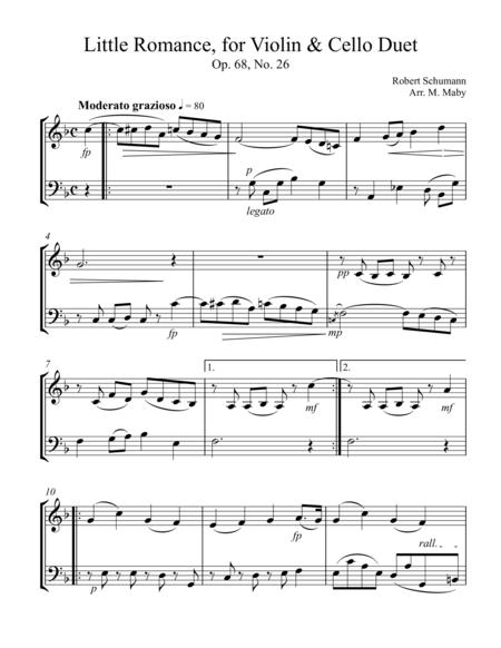 Little Romance, for violin and cello duet