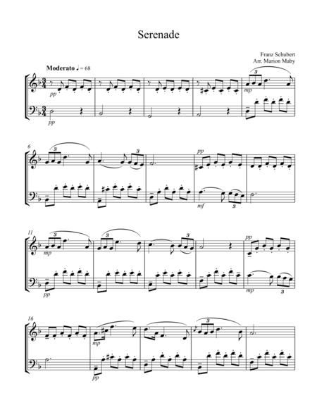 Download Serenade For Violin And Cello Duet Sheet Music By