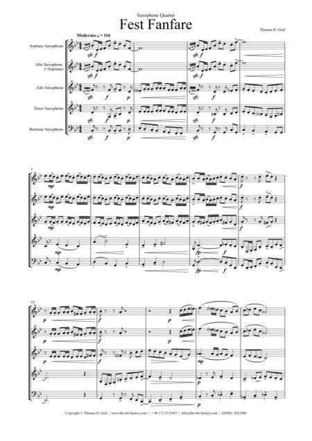 Fest Fanfare (Saxophone Quartet)
