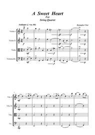 A Sweet Heart_for String Quartet