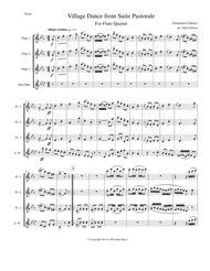 Chabrier - Village Dance for flute quartet